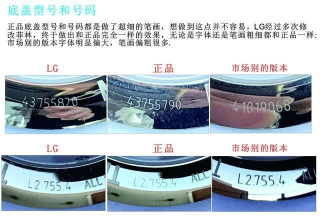 LG厂浪琴名匠双历_复刻表与正品对比测评-第19张