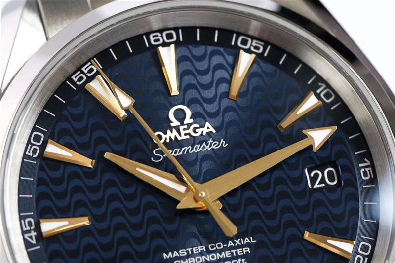 VS厂欧米茄海马150米蓝「里约奥运会特别版」_复刻表测评-第3张