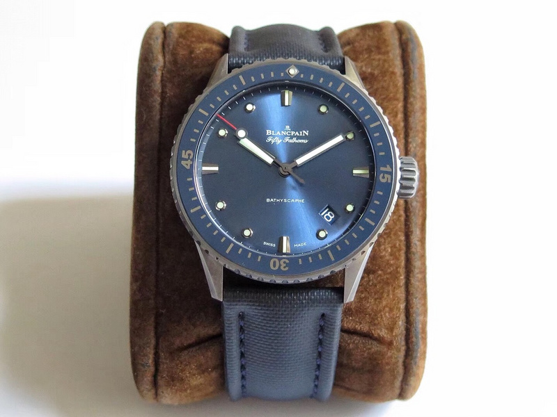 ZF厂宝珀五十噚钛陶瓷蓝色表盘5000-0240-O52A_复刻表测评