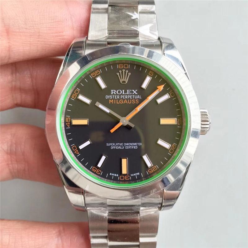 AR厂劳力士闪电针绿玻璃m116400gv-0001黑盘_复刻表与正品对比测评-第1张