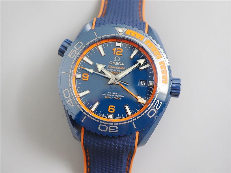 VS厂欧米茄海马600碧海之蓝陶瓷表_复刻表测评-第2张
