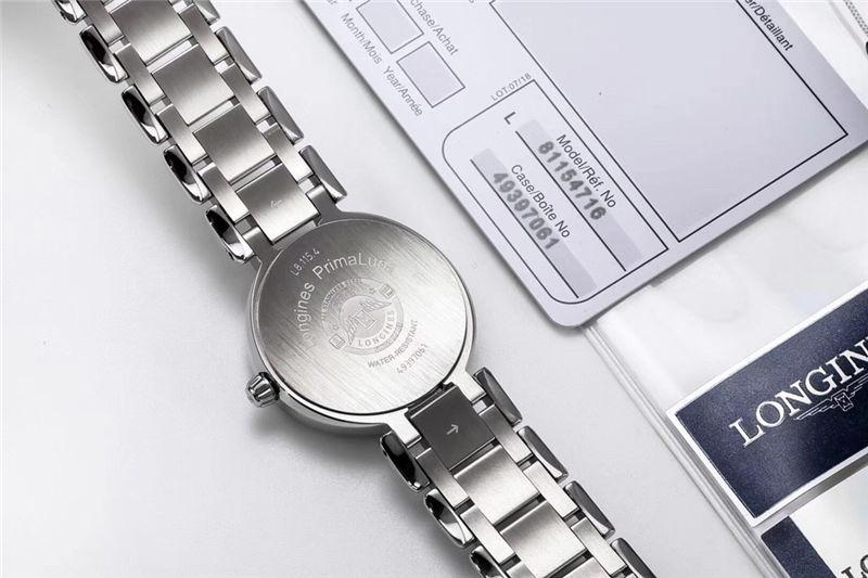 GS厂浪琴心月系列月相功能女表_复刻与正品对比测评-第18张
