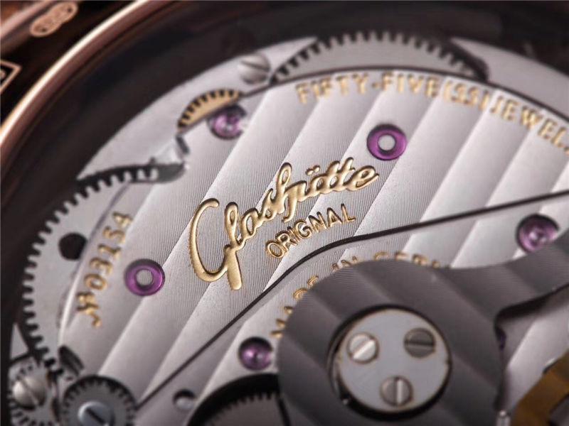 V9厂格拉苏蒂原创议员系列大日历月相_复刻表与正品对比测评-第44张