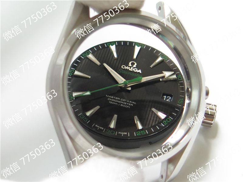VS厂欧米茄海马150米黑色面绿色秒针复刻表拆解测评-第10张