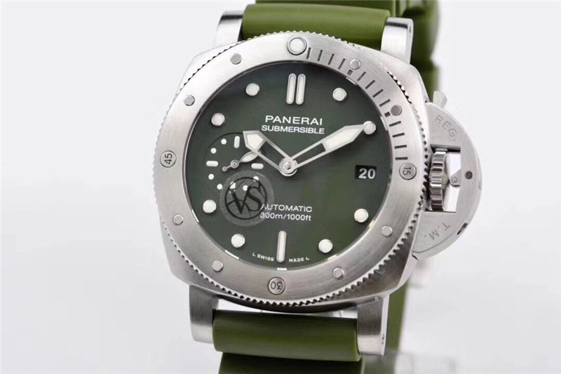 VS厂沛纳海pam1055绿海魂42mm_复刻表测评