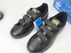Adidas Stan Smith Magic Buckle Full Black Gold 36-44 S75189