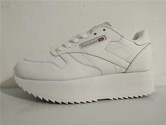 Reebok锐步LeatherDouble新款30周年经典款女款厚底增高松糕鞋CN5493