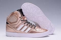 adidas阿迪三叶草高帮板鞋 黑金 36-44