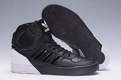 adidas阿迪三叶草高帮板鞋 黑白 36-44