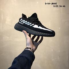 创意联名新配色!Off-White x adidas Yeezy Boost 350V2椰子联名巴斯夫爆米花跑鞋系列尺码:36一46 BD0119-87