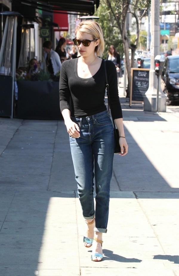 女生怎样穿衣显腿长? 上衣+牛仔裤显瘦搭配