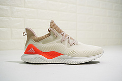 """男鞋,真标带半码,全新升级版本!adidas AlphaBOUNCE M高弹马牌鲨鱼鳃纹大底慢跑鞋""""奶酪黄亮橘红""""CG476332"""