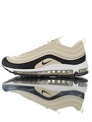 """原楦开发版型,男女鞋真标带半码!bet356在哪里玩_博彩bet356总部_bet356 手机游戏Nike Air Max 97 Premium""""Light Cream""""复古气垫百搭休闲运动慢跑鞋""""浅卡其黑""""917646-202"""