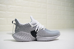"""男女鞋,真标带半码!阿迪达斯Adidas AlphaBounce Instinct CC M 阿尔法百搭超跑鞋4代本能系列""""水波纹浅灰白黑""""CG559028"""