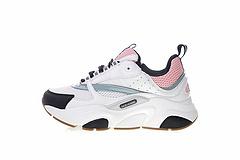 """女鞋,未来感十足的迪奥·桀傲Dior Homme B22 Trainer Sneaker复古厚底老爹运动慢跑鞋""""白黑灰粉""""3SN231YDO-H065"""