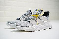 """男女鞋,真标带半码!三叶草 adidas Originals Prophere刺猬套脚飞织百搭慢跑鞋""""浅灰白黑""""B3718222"""