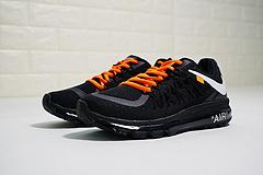 """男女鞋!bet36是不是黑_英国bet36体育在线_bet36最新体育备用NIKE AIR MAX 2015 网面气垫慢跑鞋""""OW黑白橘""""698902-006"""