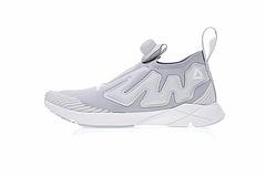 """男鞋,真标带半码!锐步Reebok Pump Supreme Ultraknit简版气阀充气鞋""""针织水泥灰""""CN0079"""