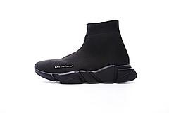 """市场最好品质!高奢品牌巴黎世家Balenciaga Speed stretch-knit Mid sneakers中帮束脚针织袜子球鞋""""全黑"""" ECBA700256A"""