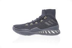 """真标真爆!Adidas Crazy Explosive Primeknit 疯狂维金斯17款实战室内篮球鞋系列""""高帮黑炭灰""""BY4470"""