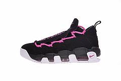 """真标带半码,乳腺癌公益基金会主题,新泽西球鞋店铺联名!Sneaker Room x Nike Air More Money QS金钱币慈善系列复古篮球鞋""""可替换鞋舌黑粉""""AJ7383-001"""