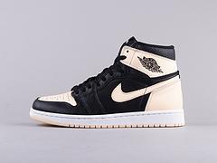 AJ1黑粉脚趾男鞋