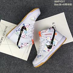 180!!!爆款限量版!LV X SUPREME X Nike SB Zoom Dunk High PREM 联名新品高帮滑板鞋 内置气垫!08XPYQ17 码数:36 36.5 37.5 38 38