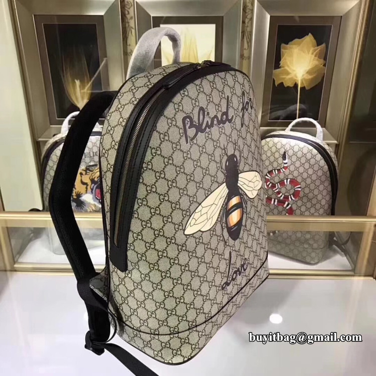 Best quality cheap discount Gucci Mens Bee print GG Supreme backpack ...
