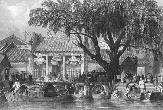 十九世纪英国铜版画 大清帝国城市印象