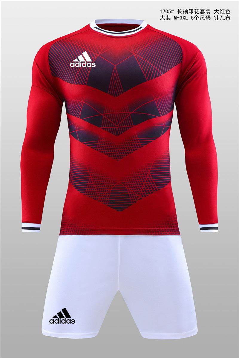 大装1705 长袖印花套装 大红色11.jpg