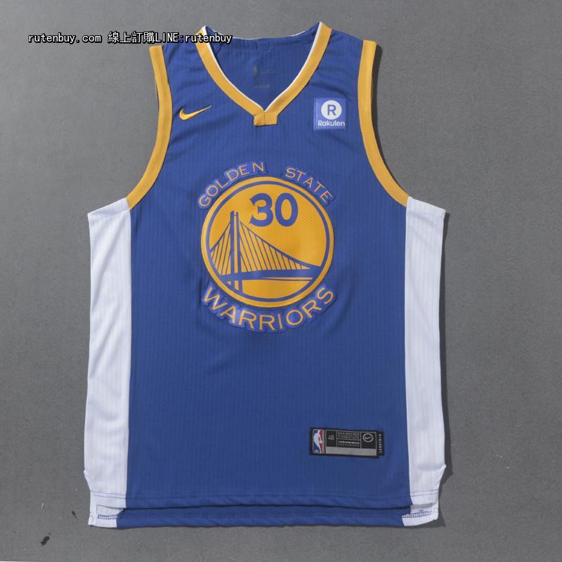 2017-2018赛季新款NIKE版勇士30号蓝色球衣