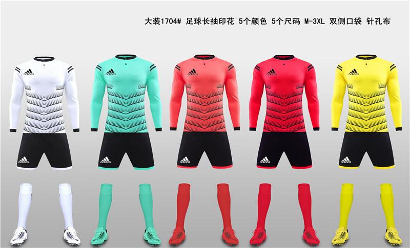 大装1704 足球长袖印花 5个颜色 5个尺码 M-3XL 双侧口袋 针孔布11.jpg