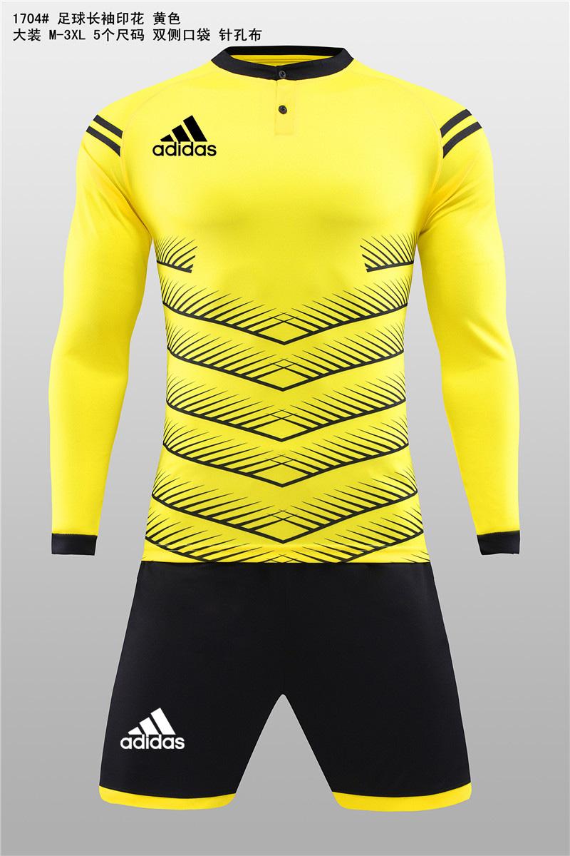 大装1704 足球长袖印花 黄色11.jpg