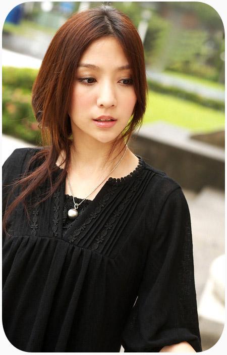 韩版新款女装女人味V领中袖长衫