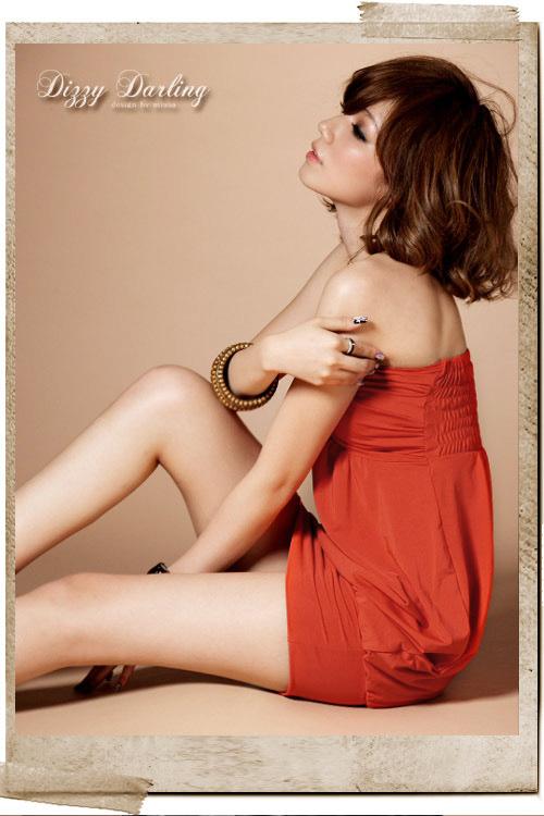 韩版新款女装人气性感束胸裙