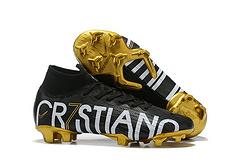 耐克C罗高帮针织面Flyknit360技术防水FG钉专属签名战靴NikeSuperfly6EliteCR7SEFG3945