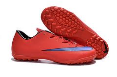 到货耐克刺客10代碎钉足球鞋NikeMercurialVictoryVTFLaserOrangeWhiteBlacksize3945