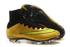 到货耐克刺客10代飞线4代金黑真碳底高帮顶级FG钉足球鞋NikeMercurialSuperflyFGGlodBlacksize3945