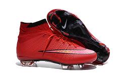 到货耐克ampquot原装方格底刺客10代飞线4代红色超A高帮顶级FG钉足球鞋NikeMercurialSuperflyFGHyperPunchGoldBlacksize3945