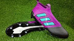 到货阿迪达斯无鞋带ACE171足球鞋FG钉AdidasACE17PureControlFG3945