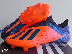 到货阿迪达斯adidasX181FG太阳黄黑足球鞋3945