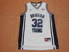 NCAA杨百翰大学美洲狮队32号吉默·弗雷戴特新面料白色