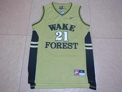 NCAA维克森林大学蒂姆邓肯21号球衣篮球服