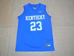 NCAA 肯塔基野猫队球衣安东尼戴维斯23号蓝球衣