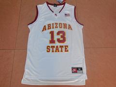NCAA哈登13号大学白色新面料球衣