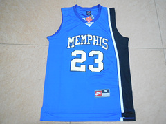 NCAA孟菲斯大学老虎23号罗斯球衣蓝色新面料