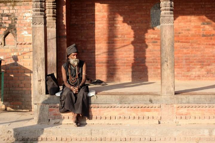 在路上见到的印度教强者(guru)