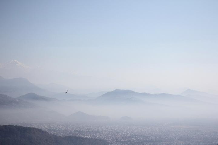 博卡拉上空的鹰 photo by Q