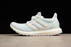 真标真爆UB4.0 白蓝色  月色海洋Adidas Ultra Boost 4.0 男