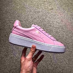 PUMA Rihanna Fenty Creeper 白粉配色  彪马蕾哈娜联名松糕鞋,全头层打造,内里全部小羊皮加持,完美脚感体验 内外兼顾!! 尺码:35-39